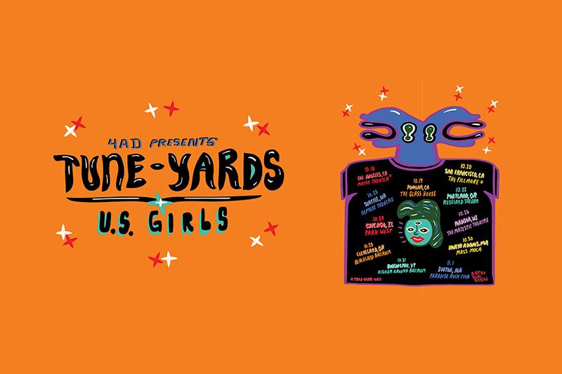 U.S. Girls - 4adpresentstuneyardsusgirlstour