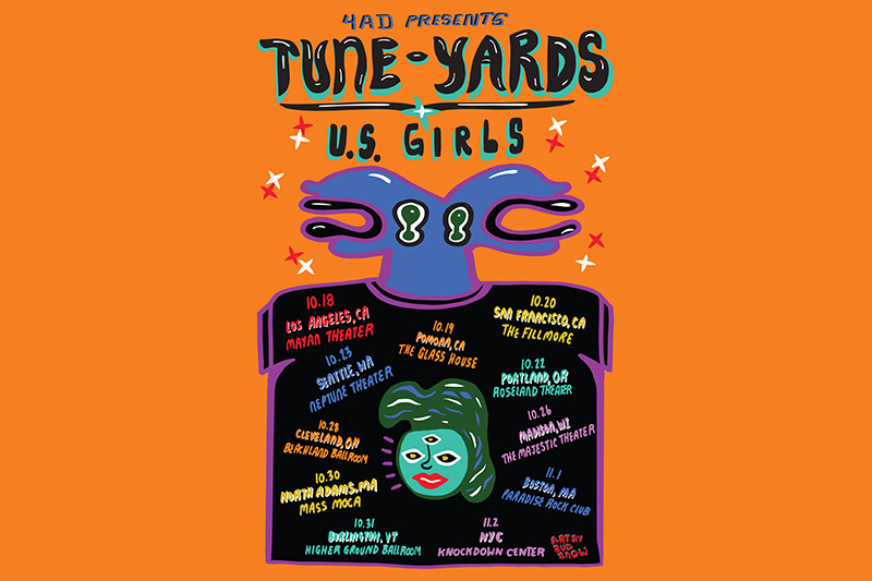 Tune-Yards - 4AD Presents: Tune-Yards & U.S. Girls, New Dates